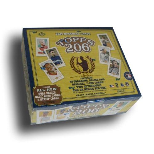 2010Topps 206(T206) Baseball Karten Hobby Box (1Autogramm, & 1Relic Karte Pro Box-20Packungen) -