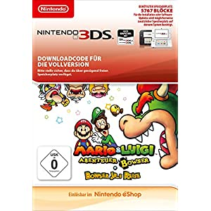 Mario & Luigi : Voyage au centre de Bowser + L'épopée de Bowser Jr. 3DS – Version digitale/code Parent ASIN DE
