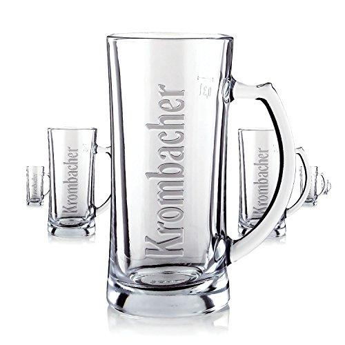 6-x-krombacher-glas-glaser-03l-seidel-bierglas-relief-gastro-bar-deko