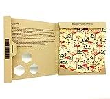 SuperBee Beeswax Wrap   Set of 3: Small, Medium and Large   Flamingos   Reusable, Eco Friendly, Zero Waste Food Wrap