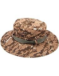 Sombrero de Pescador Adulto Unisexo Táctico Verano Anti-UV Boonie Hat camping Senderismo Pesca Caza