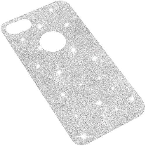 """iPhone 8 Plus & 7 Plus Glitzer-folie, TheSmartGuard iPhone 8 Plus & 7 Plus Glitzerfolie für Transparente Hüllen / Case zum einlegen zwischen Hülle und iPhone 8 Plus & 7 Plus (5.5"""") in Silber Glitzerfolie Silber Ohne Hülle"""