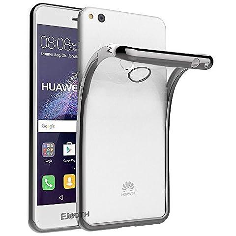 EJBOTH Huawei P8 Lite 2017 / P9 Lite 2017 /Honor 8 Lite /GR3 2017 Hülle Case hoch transparent Handyhülle Schutzhülle aus Galvanisieren TPU Material, komplett Schutz gegen Stoß, Kratzer und Risse [Silber]