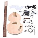 yibuy arce DIY 4cuerdas Guitarra eléctrica BBT Bass cuerpo cuello diapasón pastilla Humbucker para guitarra eléctrica clavijas de afinación con sin terminar Kit Set Accesorios