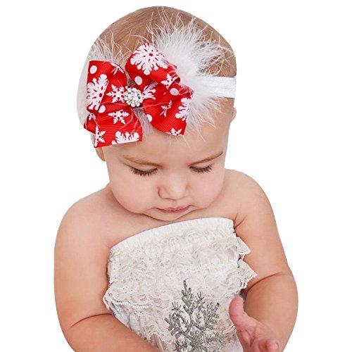 Für Haare Mädchen Rote Kostüm - Ansenesna Weihnachten Kostüm Baby Mädchen Haargurt Haar Kopfbedeckung (Rot)