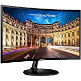 Samsung 23.5 inch (59.8 cm) Curved LED Monitor - Full HD, VA Panel with VGA, HDMI, Audio Ports - LC24F390FHWXXL (Black)