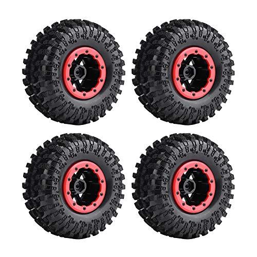 Pneus RC , 4pcs / Set Pneus en Caoutchouc RC 125mm pneus moyeux en Plastique pour 1: 10 télécommande Crawler(10 Slots)
