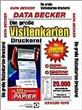 Die große Visitenkarten- Druckerei. CD- ROM für Windows 95/98/2000