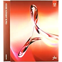 Adobe Acrobat X, Professional Version, Upgrade Edition from Professional 9 Version (PC)