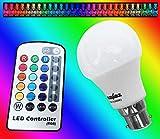 PowerSave® Bayonet Cap (BC/B22) Remote Control LED Colour Changing Energy Saving Light Bulb