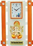 Feelings Silkina Ganesh wall Clock (Oran...