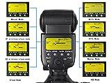 Kaavie-SL585C - ETTL Flash Speedlite Lampeggiatore Wireless Flashgun HSS (High-speed Sync 1/8000s) con Schermo LCD con ETTL, M, Multi Mode per Canon - GN58 (ISO 100, 105 millimetri) - Replaces Canon 580EX II