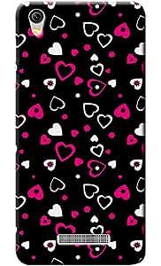 """Fashionury""""Protection Premium"""" Designed Soft Silicon Back Case Cover for Gionee P5L"""