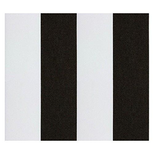 Stoff Polsterstoff Möbelstoff Bezugsstoff Meterware Sitzbezug Latina Polyacryl Teflon Gestreift Schwarz, Weiss MUSTER (Latino-muster)