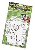 folia 23239 - Kindermasken Grusel, aus Pappe, Motive sortiert, 6 Stück, weiß, zum selbst Bemalen und Gestalten, für Kinder, Jungen und Mädchen, ideal für Kindergeburtstage und Partys