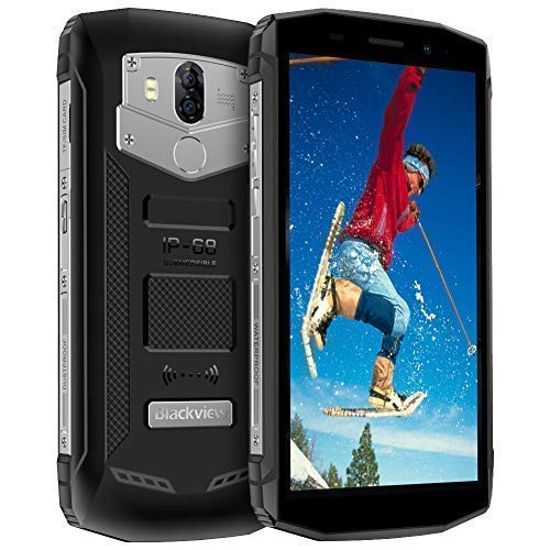 Blackview BV5800,Rugged Smartphone 5580mAh,Android 8.1,18:9 Full Screen 5.5'', Dual 4G LTE,13+8MP Dual Camera IP68 Impermeablel,2+16GB Moviles Resistentes, WiFi/GPS/NFC/Bluetooth Negro