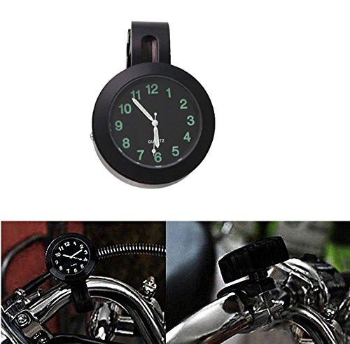 ICTRONIX 7/8'' 1''Universal Motorraduhr Uhr Uhren Ziffernblatt für Motorrad Fahrrad Lenkeruhr Fahrrad Schwarz