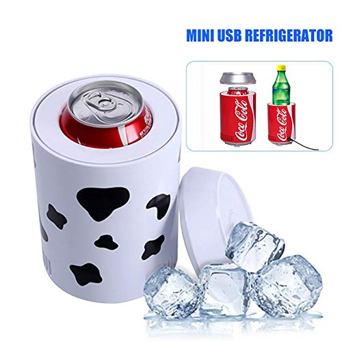 winnerruby Mini USB Nevera Portátil Bebida Cerveza Latas de Bebida Enfriador Camping Coolbox Enfriador eléctrico Gadget para Coche Hogar y Oficina al Aire Libre
