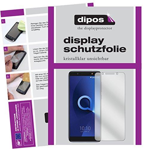 dipos I 6X Schutzfolie klar passend für Alcatel 3X Folie Bildschirmschutzfolie