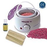 ♥ MEALISS 10 - 4in1 Komplett Waxing-Set ♥ Brazilian Waxing - Elektrischer Wachswärmer - Heisswachs-Epilation ♥ Luxus-Haarentfernung für zuhause ♥