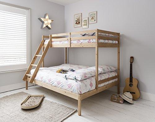 Litera con tres camas Kent en color natural