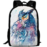 HOJJP HandtascheMost Durable Lightweight Fashion Travel Water Resistant School Backpack - Great Horned Owl