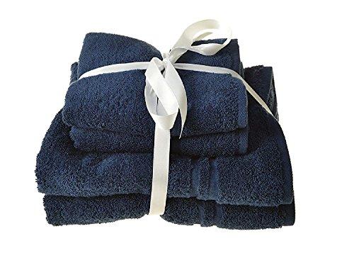 Allure Handtuch-Set, 4-teilig, 450g/m², saugfähig, 4Stück, inkl. 2x Handtücher 50x 80cm und 2x Duschtücher 70x 120cm, 100 % Baumwolle, navy, Verschiedene Größen