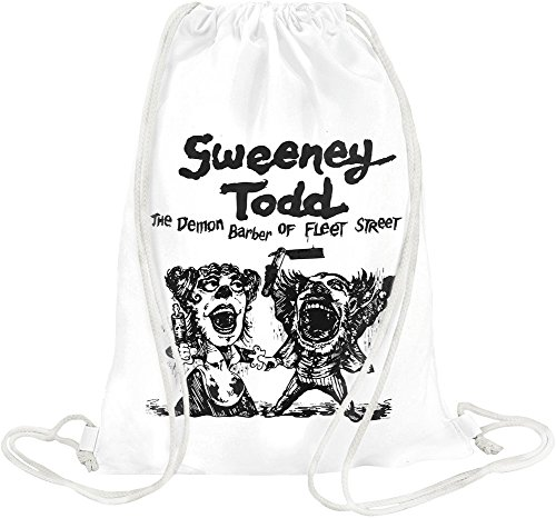 Toby Tee (Sweeney Todd movie poster Drawstring bag)