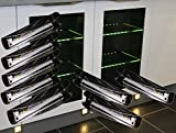LED Glaskantenbeleuchtung 8-er Komplettset / Glasbodenbeleuchtung / warm weiß / Art.2275-8 / LED Clip / Metall / Vitrinenbeleuchtung / Glasplattenbeleuchtung
