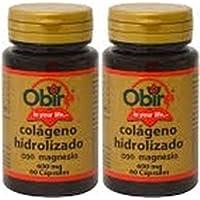 Pack AMAZON Colágeno marino hidrolizado 200 mg. 60 capsulas con magnesio y vitaminas C,