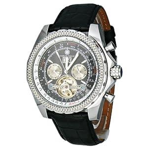 Constantin Durmont Progressive - Reloj analógico de caballero automático con correa de piel negra - sumergible a 30 metros por Constantin Durmont