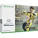 The Xbox One S FIFA 17 Bundle (500 GB), featuring a full game download of FIFA 17 for Xbox One and Windows 10, 4K Ultra HD video, and High Dynamic Range. Experience a new generation of Gears of War with the sleeker, more streamlined Xbox console and ...