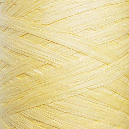Bastband in 24Farben, 30m, 7-10mm breit, für Geschenkverpackungen, zum Dekorieren und Basteln Canary Yellow
