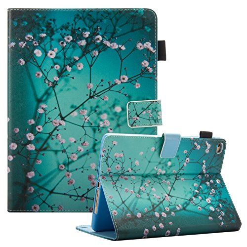iPad 2018201724,6cm Fall/iPad Air 2Hülle/iPad Air Fall, dteck PU Leder Folio Smart Cover mit Auto Sleep Wake Ständer Wallet Case für Neue iPad 24,6cm 2017/2018, iPad Air 12, 004 Pear Flower Neue Wallet Case
