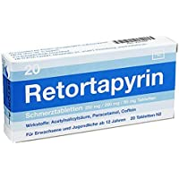 RETORTAPYRIN Tabletten 20 St Tabletten preisvergleich bei billige-tabletten.eu