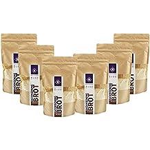 BodyChange Brotbackmischung 6er Pack - GLUTENFREI, natürlich, paleo, ohne Weizen, zuckerarm - Dunkel mit Körnern