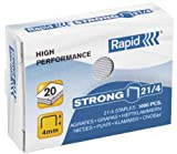 Rapid Bte 1000 agrafes Strong 21/4 galvanisé