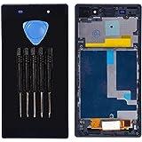 Para Sony Xperia Z1Honami pantalla LCD Pantalla Táctil Digitalizador Asamblea con borde de plástico repuestos
