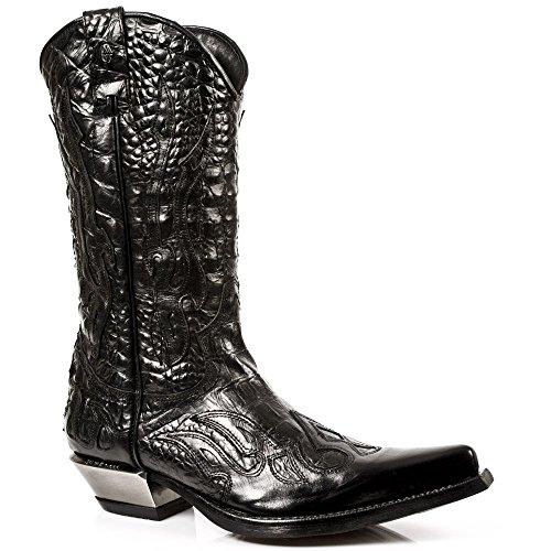 New Rock Boots Hommes Botte - Style 7921 S1 Noir Noir