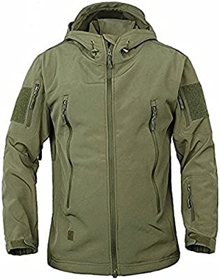 TACVASEN Military Waterproof Men's Softshell Jacket Fleece Lining Camouflage Outdoor Coat from TACVASEN-EU