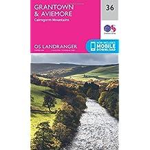 Grantown, Aviemore & Cairngorm Mountains 1 : 50 000 (OS Landranger Map)