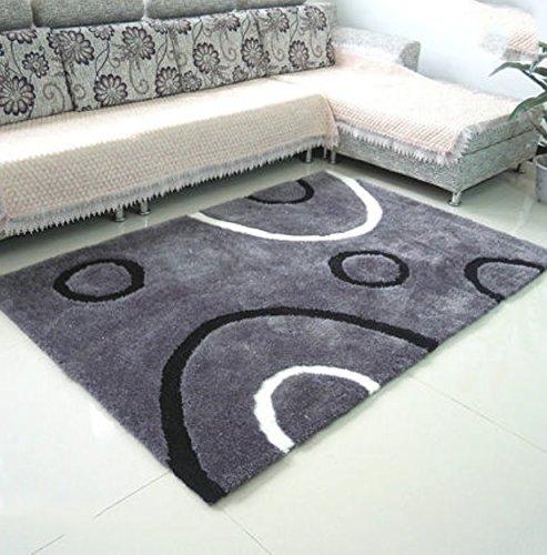RUG L&Y Teppich Encryption dicken Teppich im Wohnzimmer Teppich Schlafzimmer Teppich Sofatisch Nacht Decke gepflastert Rechteck Teppich (Farbe: grau Kreis) Non-Slip Mat (größe : #1) -