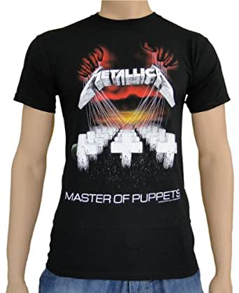 metallica master of puppets t shirt black. Black Bedroom Furniture Sets. Home Design Ideas