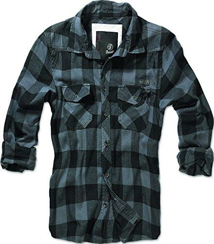 Brandit -  Camicia Casual  - Con bottoni  - Maniche lunghe  - Uomo nero L