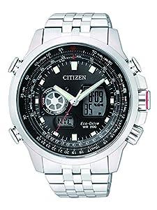Citizen Promaster Sky Reloj de cuarzo para hombre correa de acero inoxidable color plateado