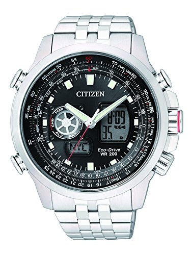 Citizen Herren-Armbanduhr XL Promaster Sky Analog – Digital Quarz Edelstahl JZ1060-50E