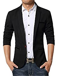 Y-BOA Veston Blazer Tailleur Casuel Homme Jacket Business Smoking Vintage