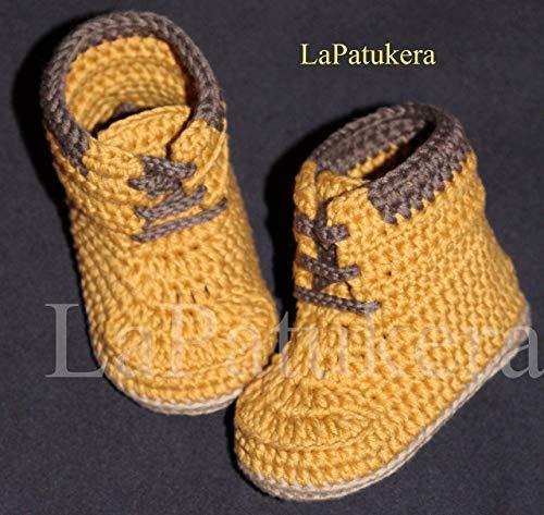 Patucos para bebé de crochet