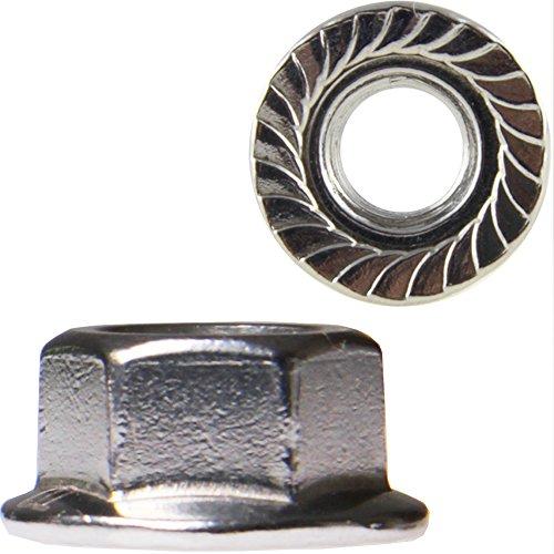 50 Stück Sechskantmuttern M6 mit Flansch DIN 6923 Edelstahl A2