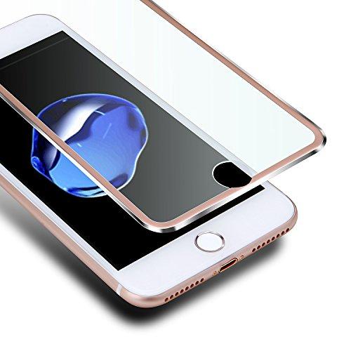 """iPhone 7 Plus / 8 Plus Protector de Pantalla,VIUME iPhone 7 Plus / iPhone 8 Plus Cobertura Completa Cristal Vidrio Templado Premium - 5.5""""(Metal Oro Rosa)"""